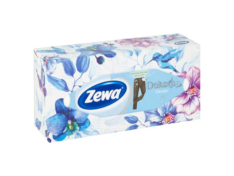 Zewa Deluxe Design papírové kapesníčky 3 vrstvé 90 ks, box