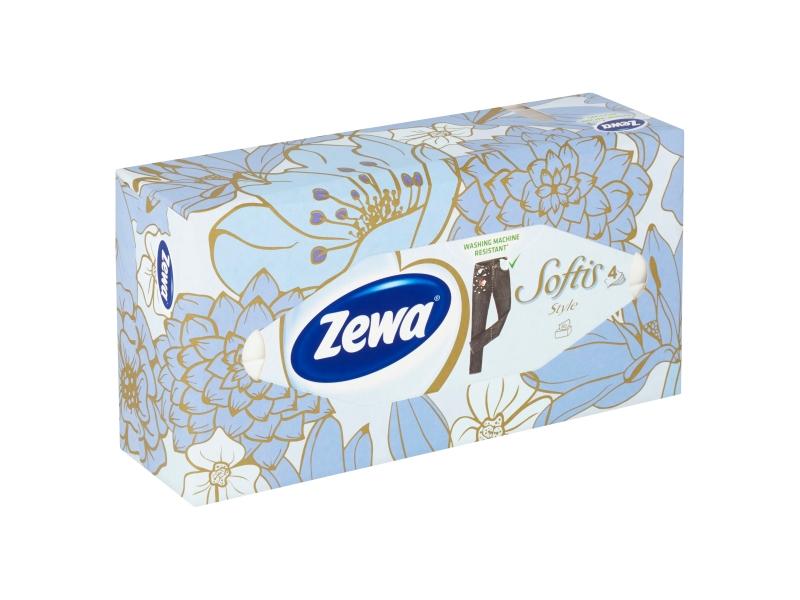 Zewa Softis Style papírové kapesníčky 4 vrstvé 80 ks, box
