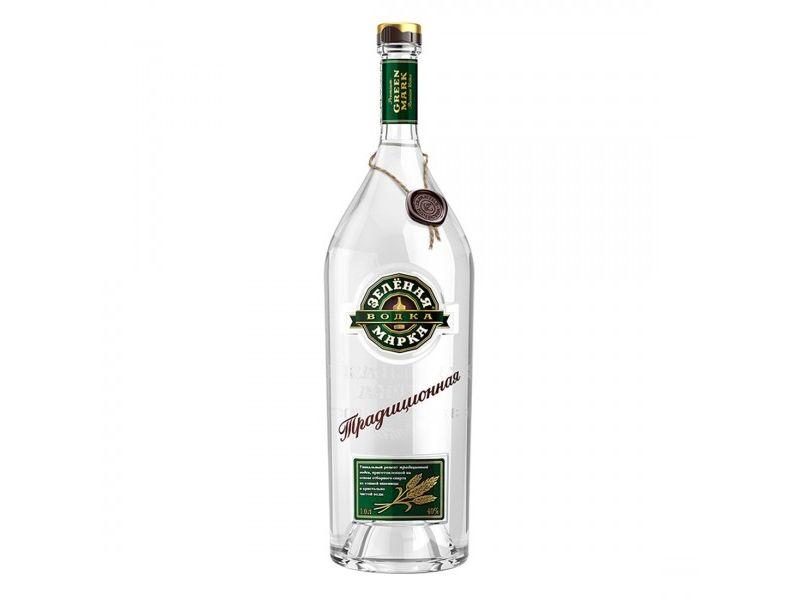 Zelyonaya Marka Tradicionnaya Vodka 40% 1l