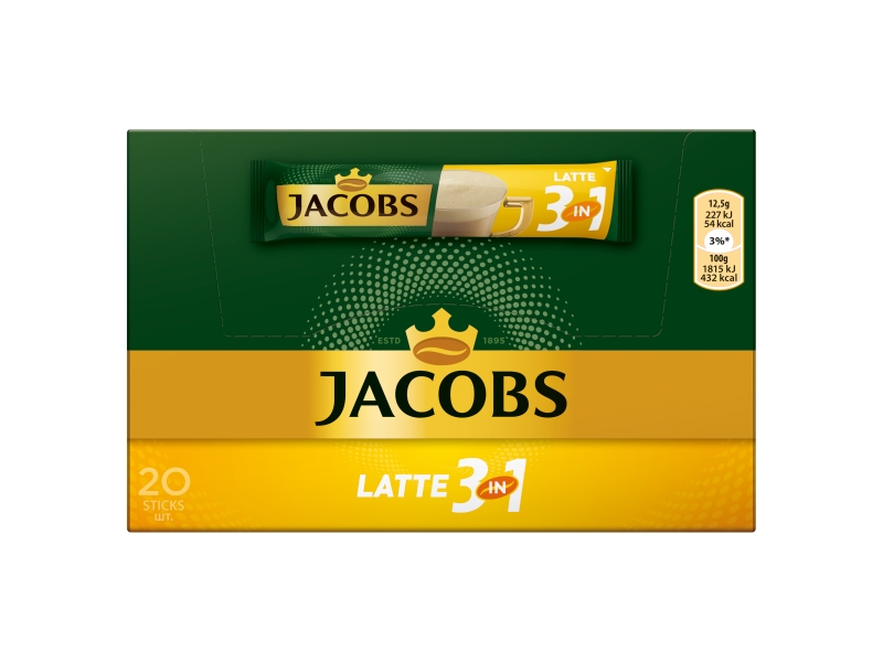 Jacobs Cafe Latte 3in1, 20x12,5g