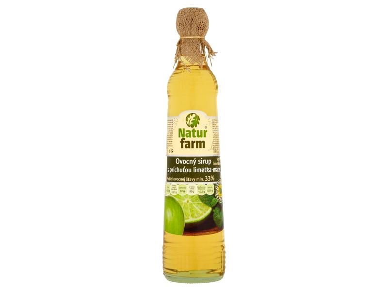 Natur Farm Ovocný sirup s příchutí limetka-máta 0,7l
