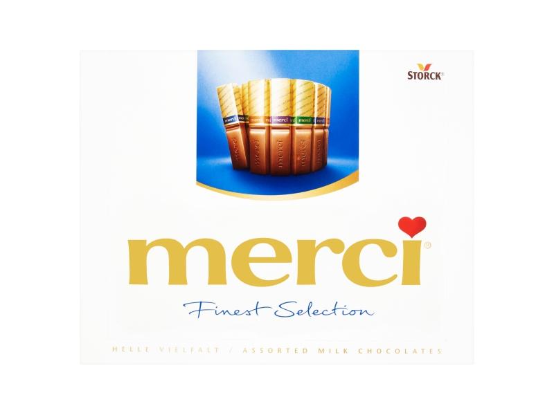 Storck merci 4 druhy mléčných čokoládových specialit 250g