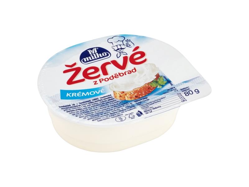 Milko Žervé z Poděbrad Krémové 80g