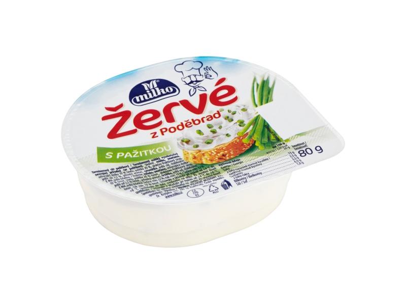 Milko Žervé z Poděbrad S pažitkou 80g