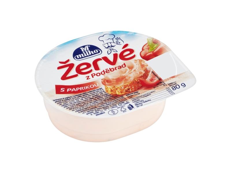 Milko Žervé z Poděbrad S paprikou 80g