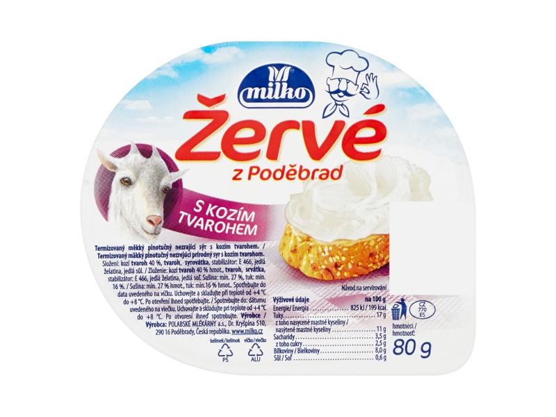 Milko Žervé z Poděbrad S kozím tvarohem 80g