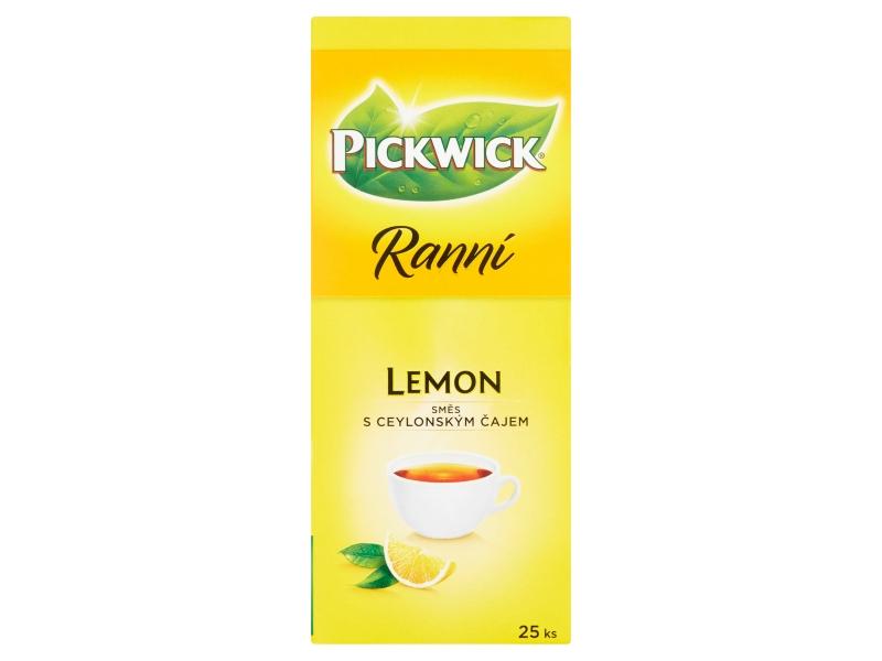 Pickwick Ranní S citronem směs s ceylonským čajem, 25 x 1,75g