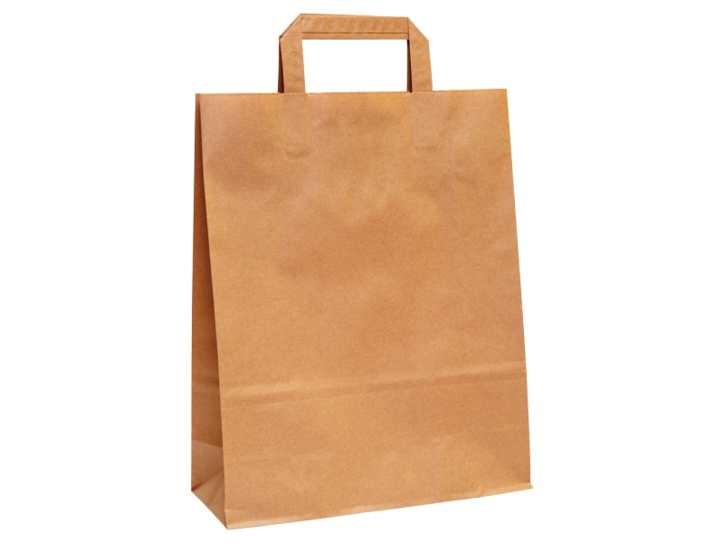 Papírová taška hnědá 26x14x32cm 1ks