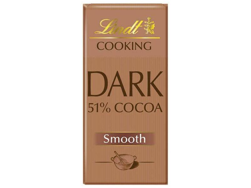 Lindt Cooking Dark 51% Smooth Hořká čokoláda na vaření 180g