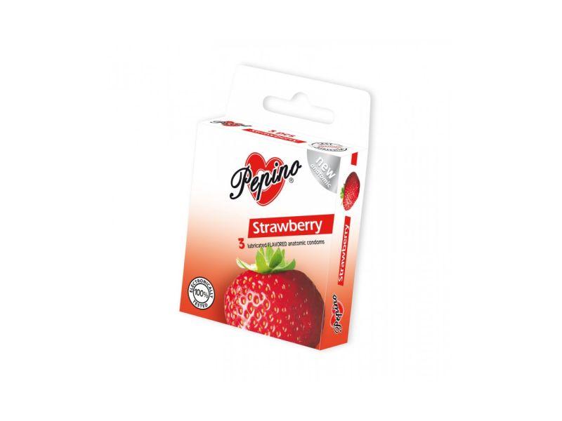 Pepino Jahoda kondomy 3ks