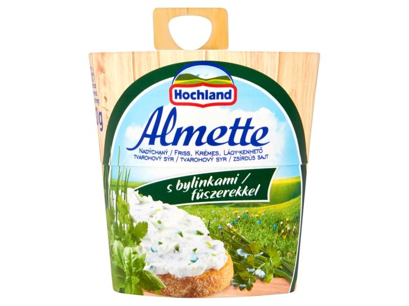 Hochland Almette Nadýchaný tvarohový sýr s bylinkami 150g