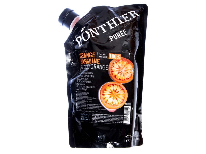 Ponthier Puree Pyré ovocné červený pomeranč 1kg
