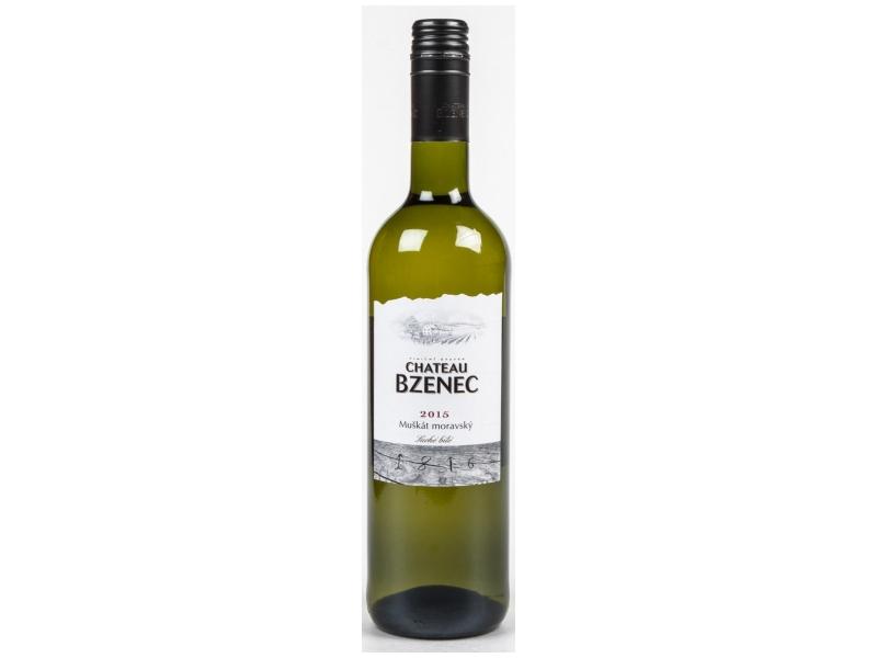 Chateau Bzenec Muškát moravský, suché bílé víno 0,75l