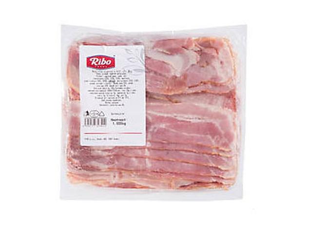 Ribo Anglická slanina s kůží plátky 1kg