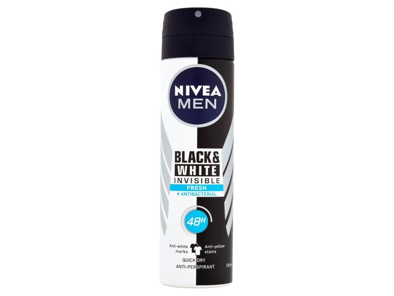 Nivea Men Black & White Invisible Fresh Sprej antiperspirant 150ml