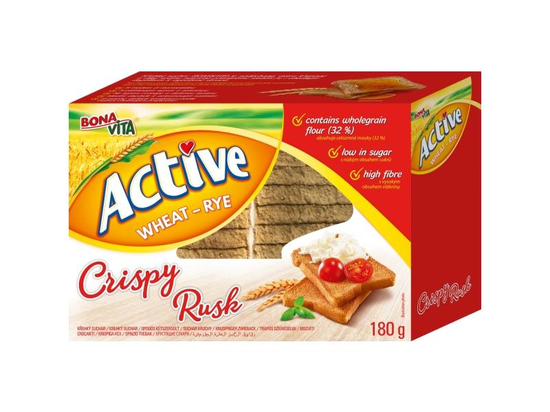 Bonavita Active Wheat-Rye Crispy Rusk Suchary pšenično-žitné 180g