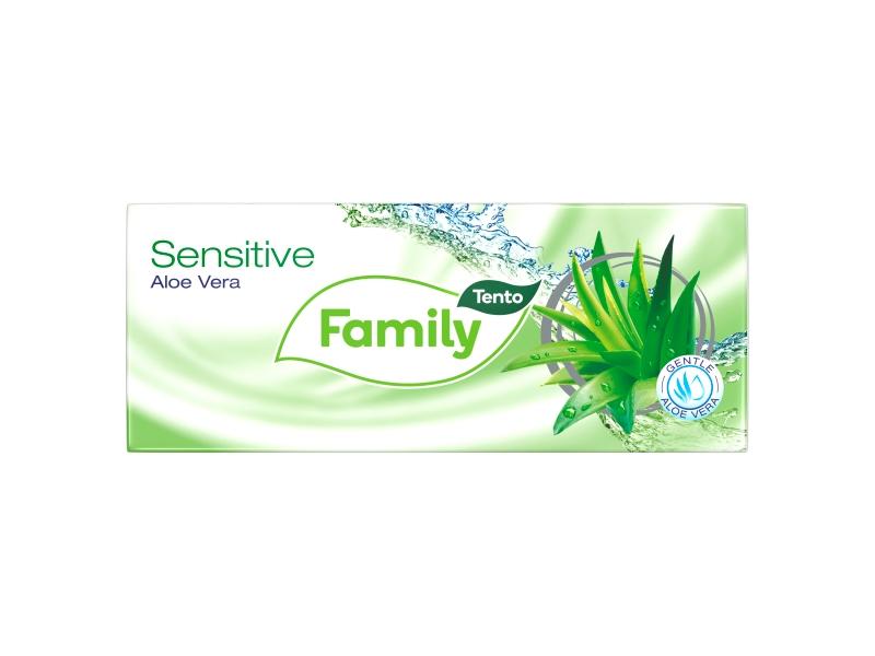 Tento Family Sensitive Aloe Vera kapesníky 3 vrstvé 10 x 10 ks