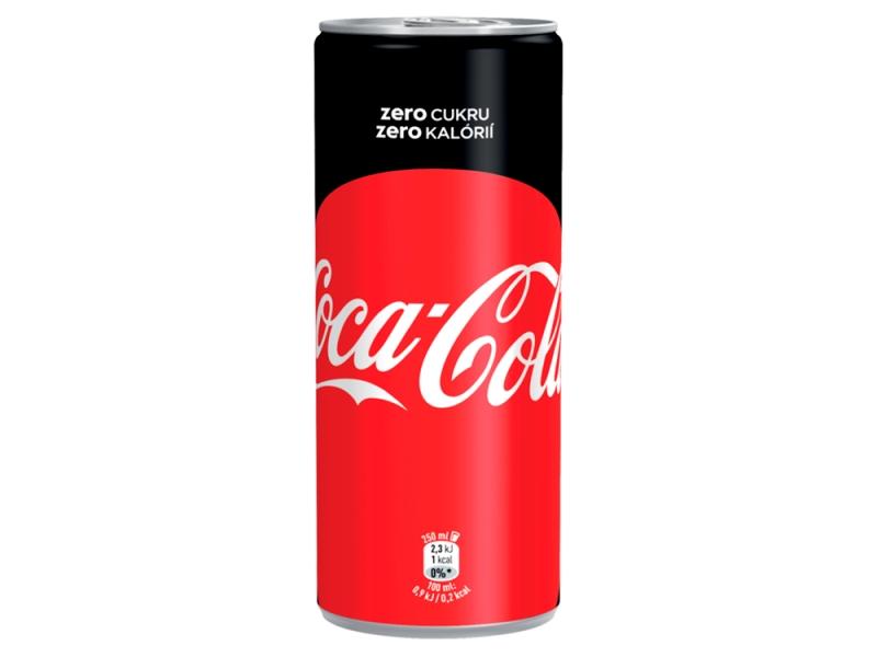 Coca Cola Zero 250ml, plech