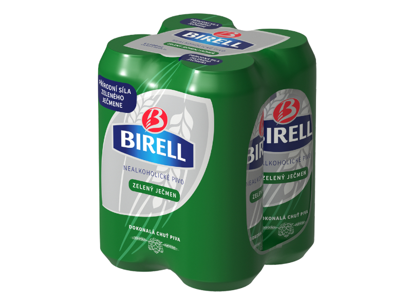 Birell Zelený ječmen nealkoholické pivo 4x500ml plech