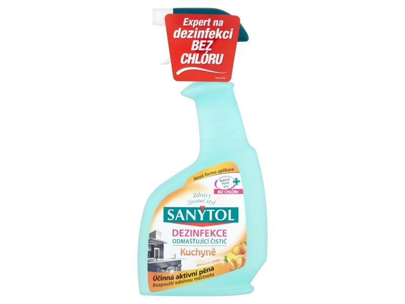 Sanytol Dezinfekce odmašťující čistič kuchyně citrus 500ml
