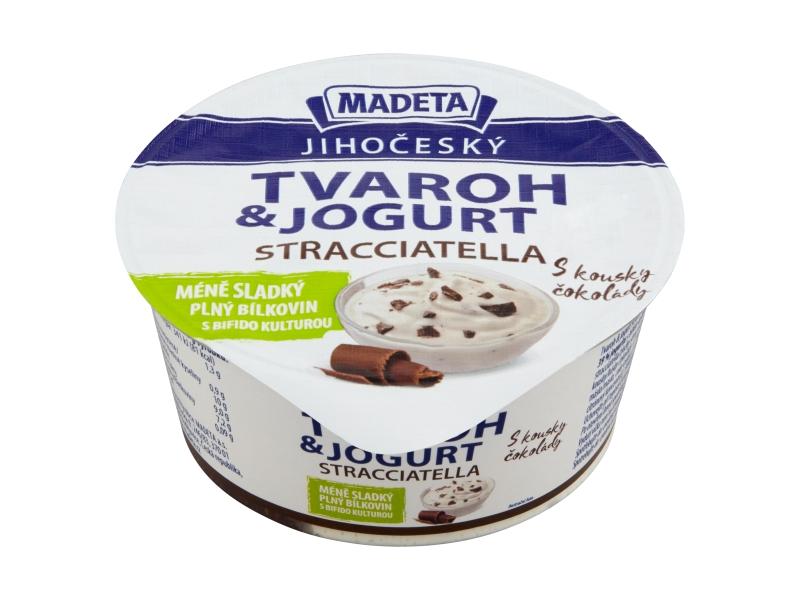 Madeta Jihočeský tvaroh s jogurtem stracciatella 135g