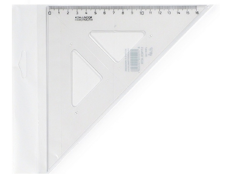 KOH-I-NOOR Trojúhelník s ryskou 1ks