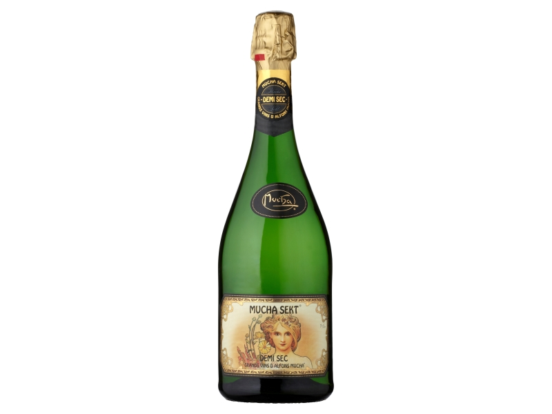 Mucha Sekt Demi sec Šumivé víno bílé 0,75l