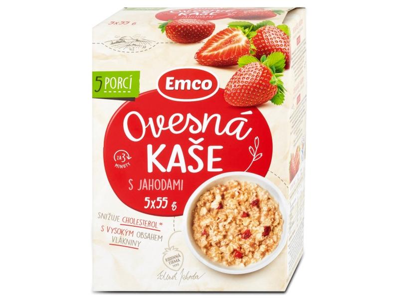 Emco Ovesná kaše s jahodami 5x55g
