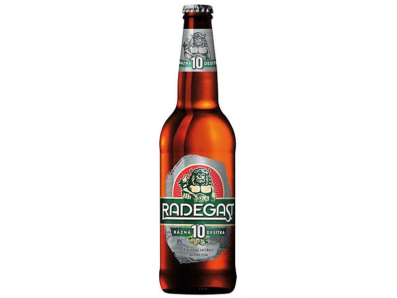 Radegast Rázná 10 pivo výčepní světlé 0,5l, sklo