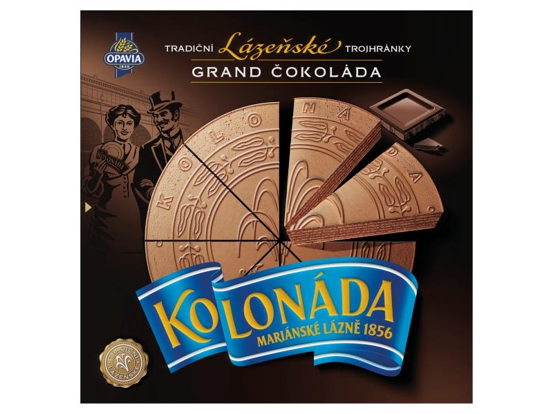 Opavia Kolonáda Trojhránky lázeňské oplatky Grand čokoláda 200g