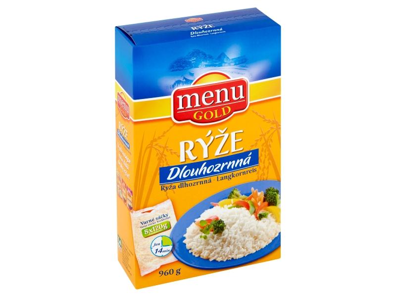 Menu Gold Dlouhozrnná rýže 8 varných sáčků 960g