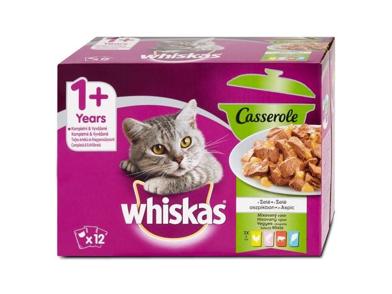 Whiskas Casserole mixovaný výběr v želé, 12 x 85g
