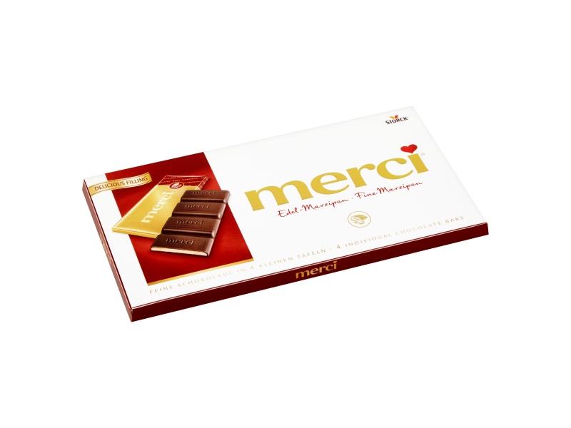 Storck merci Hořká čokoláda plněná marcipánovou náplní 112g