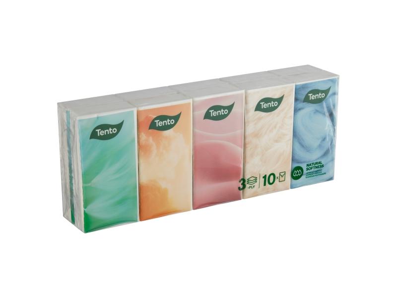 Tento Natural Softness kapesníky 3 vrstvé 10 x 10 ks