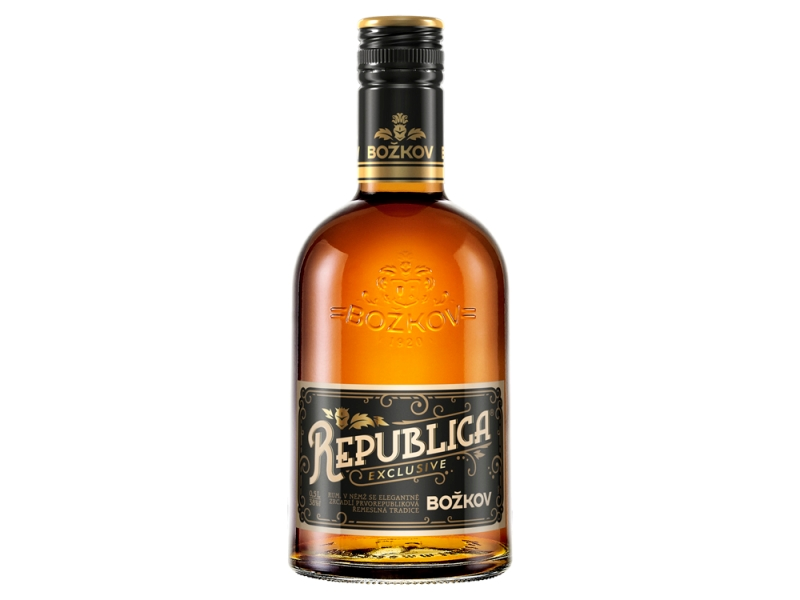 Božkov Republica Exclusive Rum 38%, 0,5l