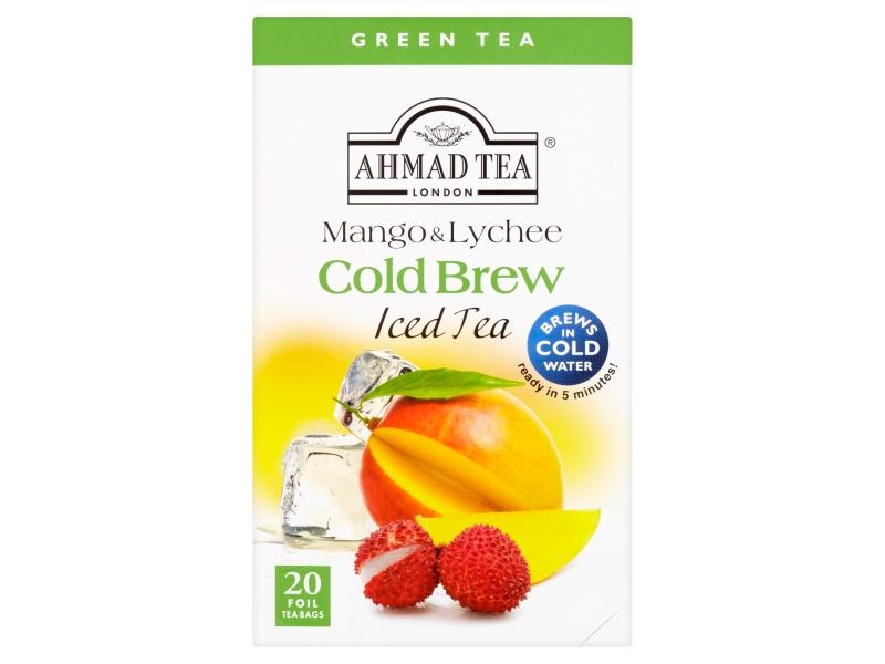 Ahmad Tea Cold Brew Mango & Lychee Zelený čaj, 20x2g