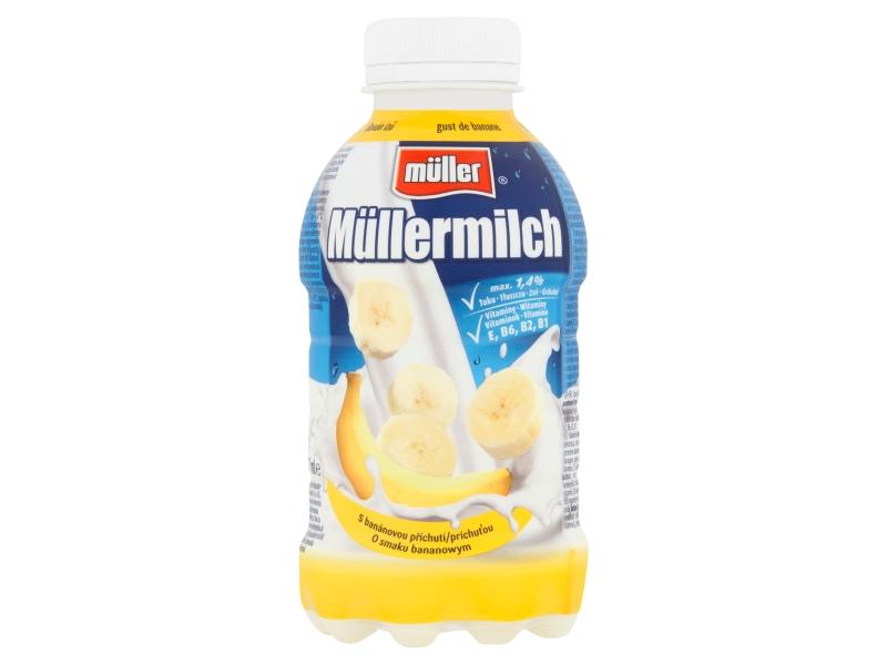 Müllermilch Mléčný nápoj s banánovou příchutí 400g