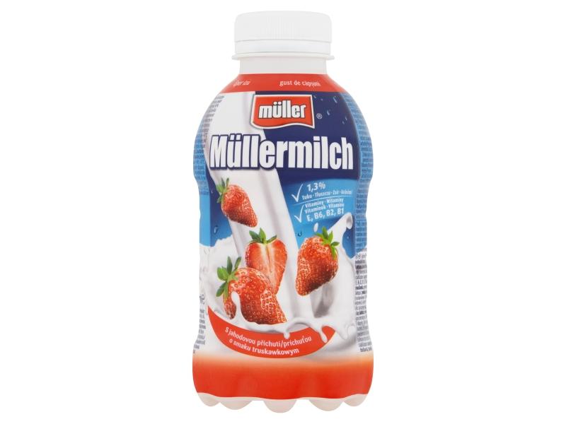 Müllermilch Mléčný nápoj s jahodovou příchutí 400g