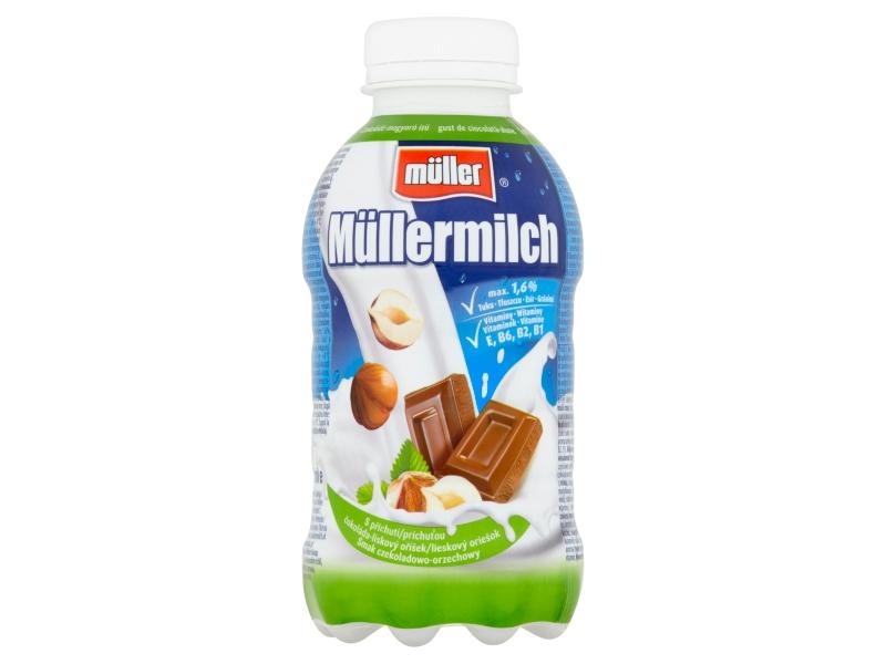 Müllermilch Mléčný nápoj s příchutí čokolády a lískových oříšků 400g