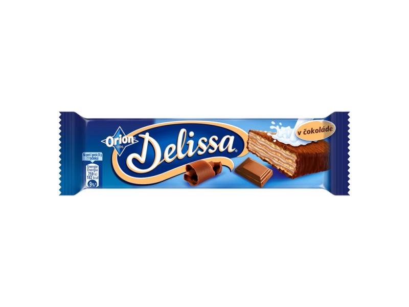 ORION Delissa oplatka s kakaovou náplní v mléčné čokoládě 33g
