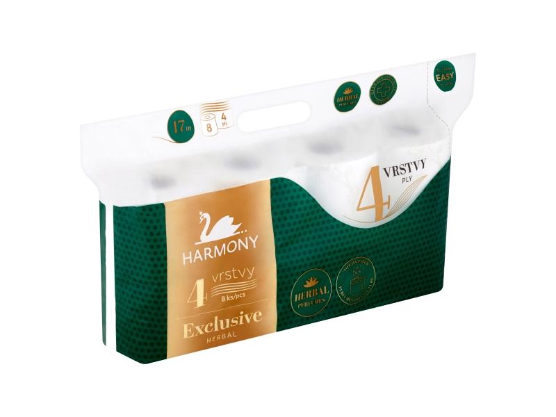 Harmony Exclusive Herbal toaletní papír 4 vrstvy 8 ks