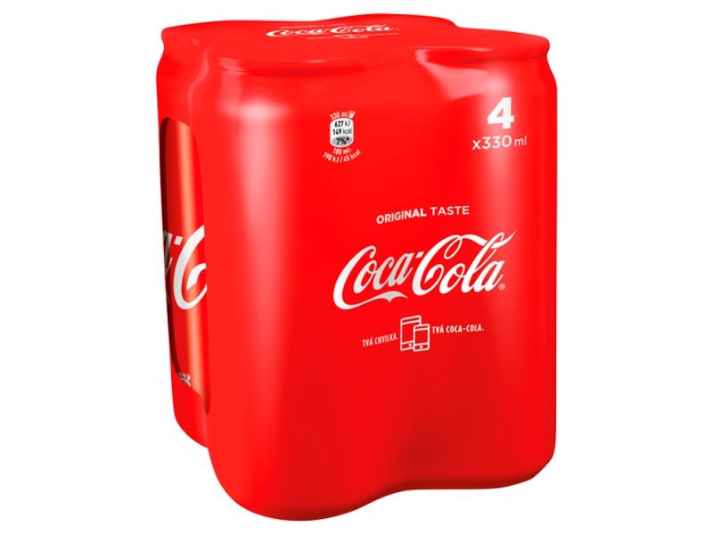 Coca Cola 4x 330ml, plech