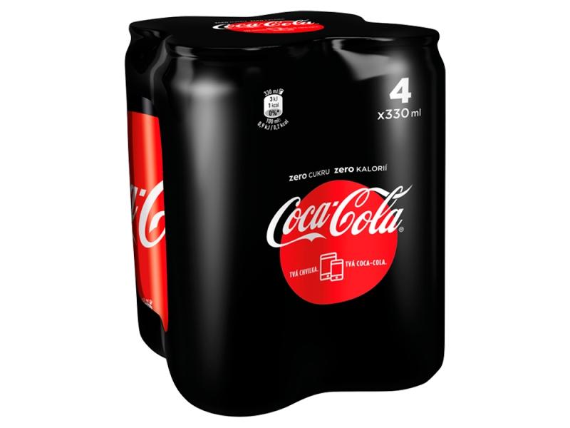 Coca Cola Zero 4x 330ml, plech