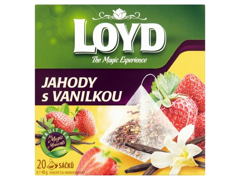 Loyd Ovocný čaj aromatizovaný jahody s vanilkou 20 x 2g