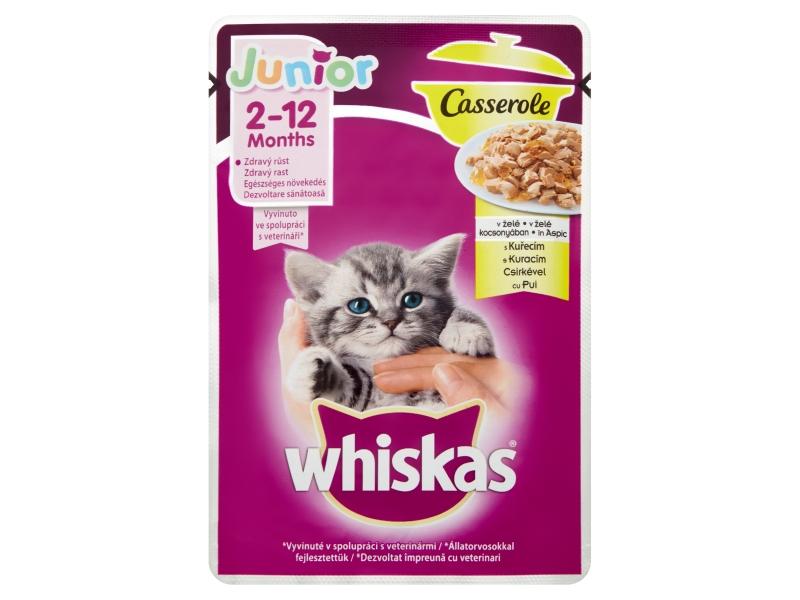 Whiskas Junior Casserole dušené šťavnaté kousky v želé s kuřecím 85g