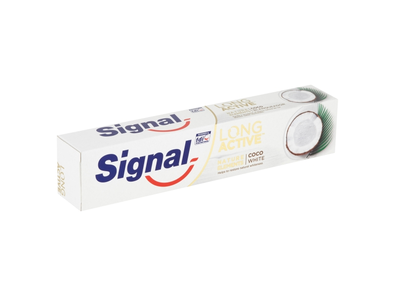 Signal Long Active Nature Elements Coco White zubní pasta 75ml