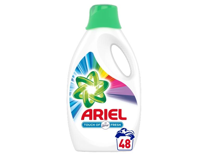 Ariel Touch Of Lenor Color Tekutý Prací Prostředek (48 praní) 2,64L