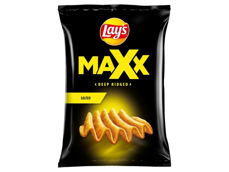 Lay´s Maxx Smažené bramborové lupínky solené 65g