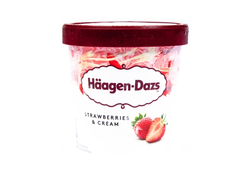 Häagen-Dazs Strawberries & Cream 460ml, kelímek