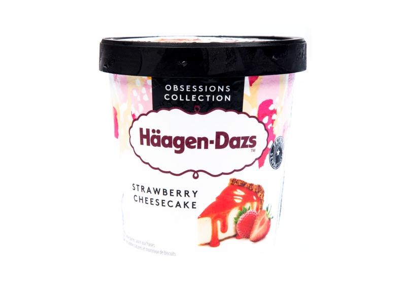 Häagen-Dazs Strawberry Cheesecake 460ml, kelímek